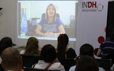 Proyección de video saludo Representante Regional