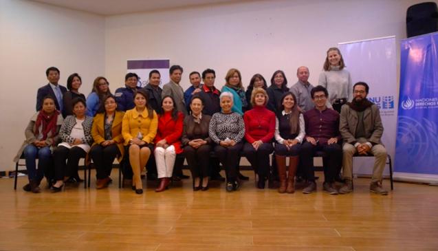 Bolivia: Oficina Regional impartió taller sobre estereotipos de género y rol de la judicatura
