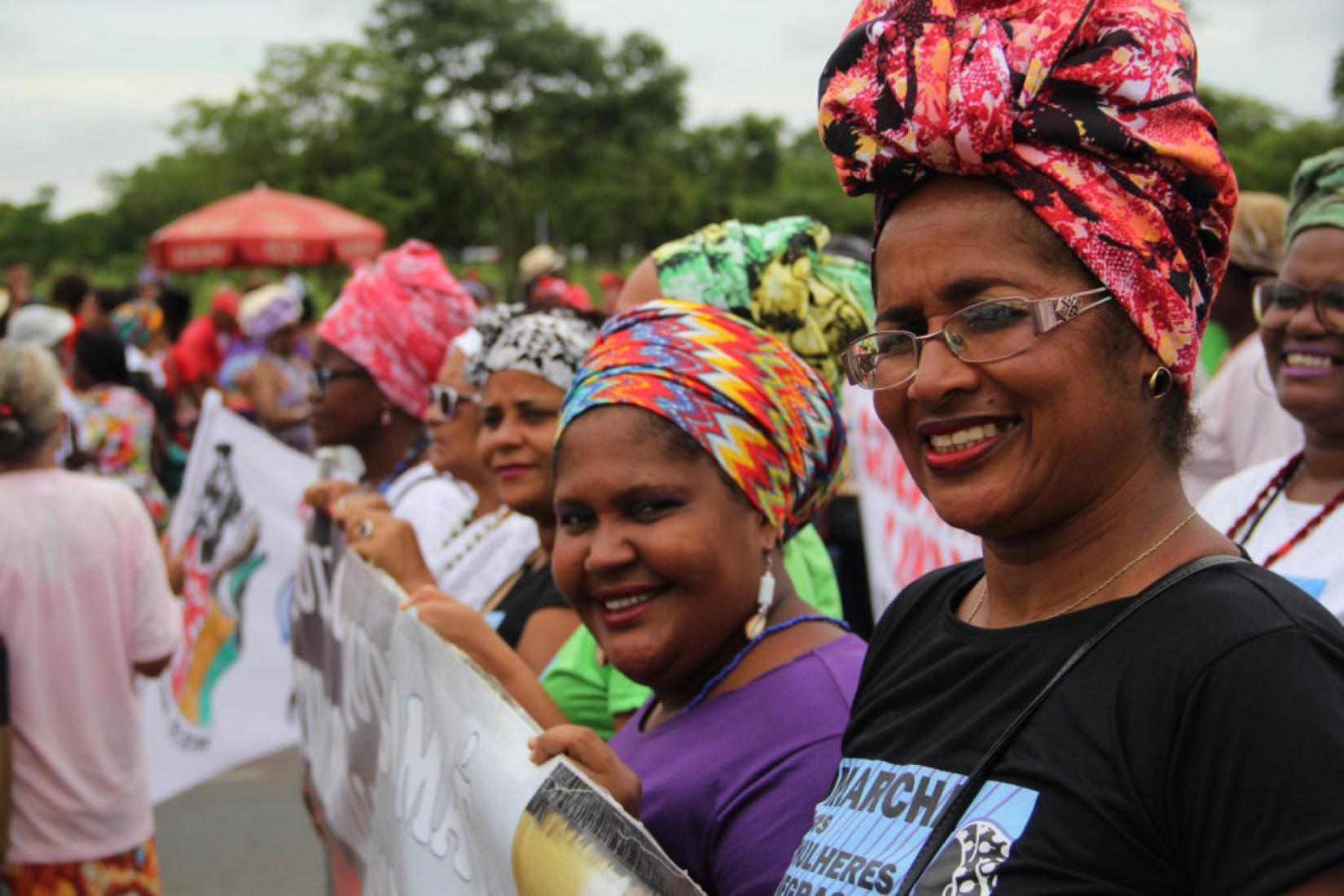 Marcha das Mulheres Negras contra o Racismo e a Violência e pelo Bem Viver, em 2015, em Brasília.