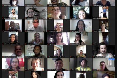 Rostos das pessoas participantes de encontro virtual