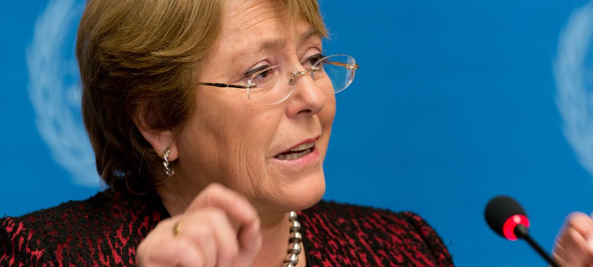 Retrato de Michelle Bachelet, Alta Comisionada ONU para los Derechos Humanos